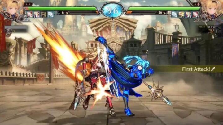 GBVS:Blitz(ブリッツ)の対戦画面